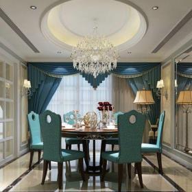 新古典风格三居室餐厅吧台装修效果图