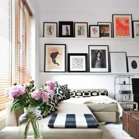 样板房时尚90平米精装起居室背景墙装?#20301;?#25928;果图