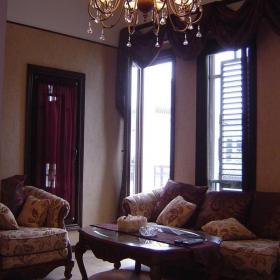 客厅吊顶新中式风格大户型起居室装修图片,新中式沙发图片效果图大全