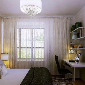 现代简约三居室卧室吧台装修效果图欣赏