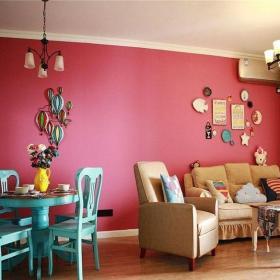 混搭風格三居室客廳吧臺裝修圖片效果圖