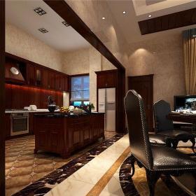 东南亚风格别墅餐厅吧台装修效果图