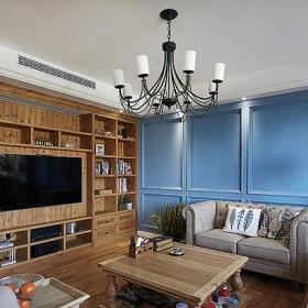 美式乡村风格起居室设计效果图