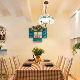 地中海风格二居室餐厅吧台装修效果图欣赏