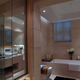 现代简约三居室卫生间吧台装修图片效果图