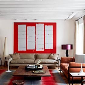 时尚混搭起居室设计效果图