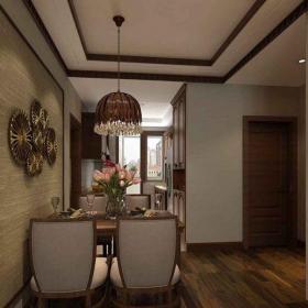東南亞風格二居室餐廳吧臺裝修效果圖欣賞