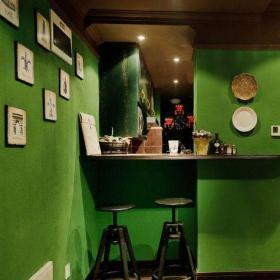 61-90平米二居室灰色73平田园风格2居室客厅吧台效果图