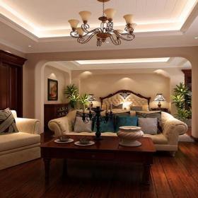 美式风格起居室装修效果图