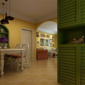 田园风格二居室餐厅吧台装修效果图