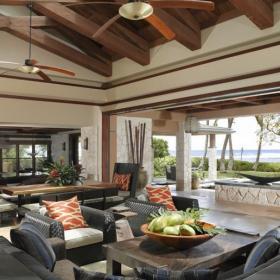东南亚风格起居室装修效果图