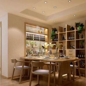 現代簡約別墅餐廳吧臺裝修效果圖欣賞