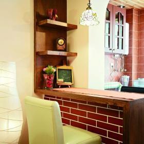 田园风格实用餐厅吧台空间装修实景图效果图欣赏