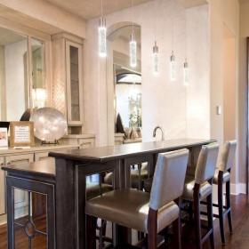 时尚美式家居设计吧台效果图
