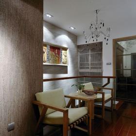 中式古典三居室餐廳吧臺裝修效果圖