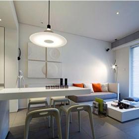 現代簡約一居室餐廳吧臺裝修效果圖