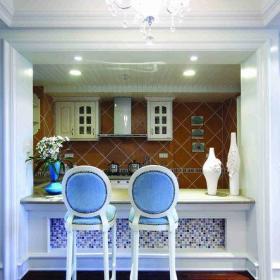 东南亚风格三居室餐厅吧台装修图片效果图欣赏