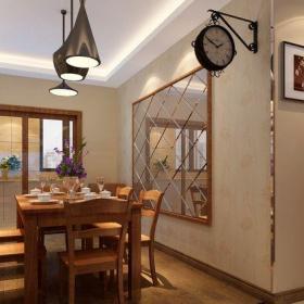 現代簡約二居室餐廳吧臺裝修效果圖
