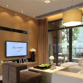 现代简约三居室客厅吧台装修效果图大全