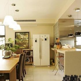 欧式风格复式大气暖色调富裕型140平米以上餐厅吧台餐桌效果图