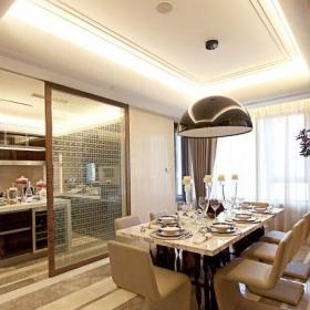 現代簡約四居室餐廳吧臺裝修效果圖欣賞