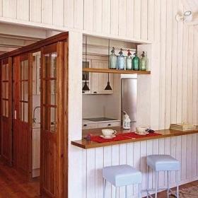 欧式风格小户型原木色经济型阁楼吧台灯具效果图