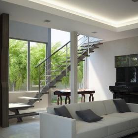 复式室内起居室设计图片欣赏效果图