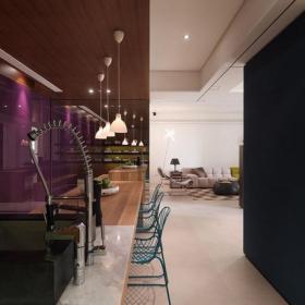 餐臺墻面裝飾隔斷椅凳單身公寓吊頂80㎡80m2一居室現代簡約風格吧臺裝修圖片現代簡約風格吧椅圖片效果