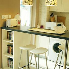 一居小户型现代吧台的历练感创造简约生活效果图大全