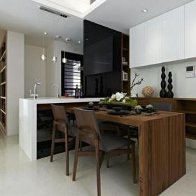 现代简约三居室餐厅吧台装修效果图欣赏
