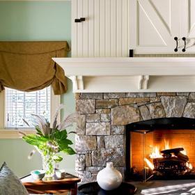 起居室壁炉装修效果图
