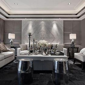 新古典风格四居室客厅吧台装修效果图