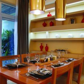 东南亚风格四居室餐厅吧台装修效果图