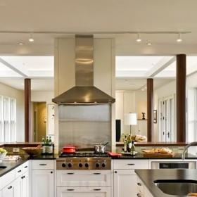 藝術北歐風格客廳浪漫臥室灰色窗簾開放式廚房吧臺裝修效果圖