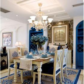 地中海风格五居室餐厅吧台装修效果图