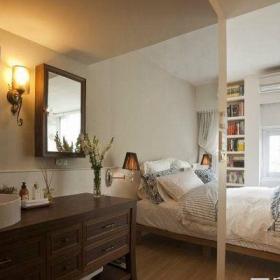 田园风格一居室卫生间吧台装修效果图