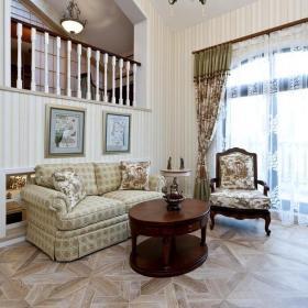 客厅吊顶照片墙田园风格起居室装修图片效果图大全