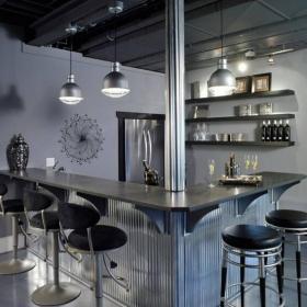 吧台灯吧台现代吧台椅家庭吧台别致时尚的酒柜吧台设计效果图欣赏
