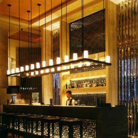 椅吊灯灯具工装置物架新中式风格酒吧吧台装修图片效果图大全