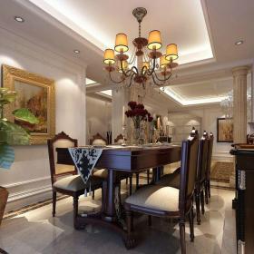 新古典风格四居室餐厅吧台装修效果图欣赏