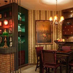 东南亚风格三居室餐厅吧台装修效果图大全