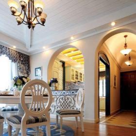地中海风格四居室餐厅吧台装修效果图