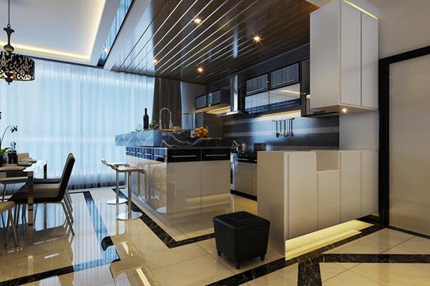 150㎡后現代風格開放式廚房吧臺吊頂裝修效果圖后現代風格吧臺椅圖片