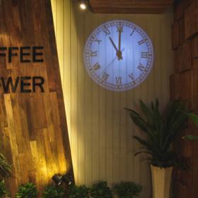 武漢花園咖啡裝修效果圖案例