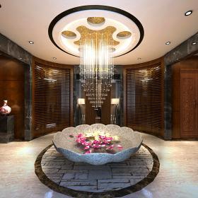 沐欣源洗浴中心裝修效果圖案例