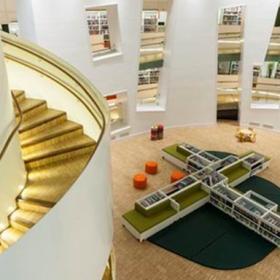 克拉珀姆图书馆工装效果图案例