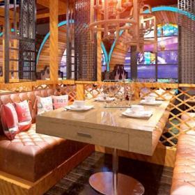 现代餐厅烤羊腿餐厅装修案例