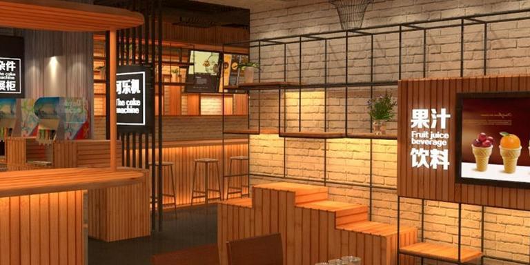 特色休闲办公咖啡馆装修效果图案例