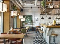 小憩站咖啡廳工裝裝修效果圖案例
