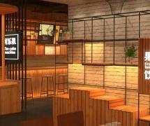 特色休閑辦公咖啡館裝修效果圖案例